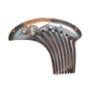 Silver, gold and diamond hair comb, winner of the Canadian Jewellers Association (CJA) 100 Year Anniversary Award
