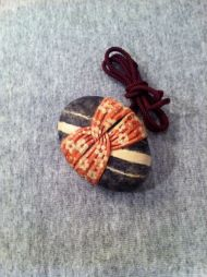 fabric wrapped stone 1