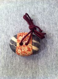 fabric wrapped stone 2